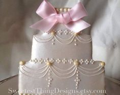 12 Elegant Wedding Cake Cookies/ Bridal Shower Favor/ Wedding Favor By The Sweetest Thing - Designs and Events