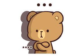 สติ๊กเกอร์ไลน์ Milk & Mocha: Custom Stickers - line2me.in.th Cute Love Pictures, Cute Cartoon Pictures, Cute Couple Cartoon, Cute Love Gif, Cute Pokemon Wallpaper, Cute Cartoon Wallpapers, Bear Cartoon, Cartoon Art, Kawaii Love