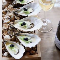 Poached Oysters with Pickled Cucumber and Caviar | Food & Wine