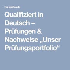 """Qualifiziert in Deutsch – Prüfungen & Nachweise """"Unser Prüfungsportfolio"""""""