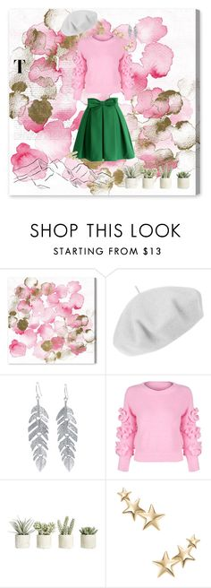 """""""Pretty spring girl ~"""" by maja-20 ❤ liked on Polyvore featuring Oliver Gal Artist Co., Betmar, Belk Silverworks, WithChic, Allstate Floral, Kenneth Jay Lane and Urban Decay"""