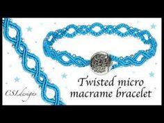 Easy Yin and Yang Infinity Macrame Bracelet - YouTub Micro Macrame Tutorial, Macrame Jewelry Tutorial, Macrame Bracelet Patterns, Macrame Bracelet Tutorial, Macrame Necklace, Macrame Patterns, Friendship Bracelet Patterns, Macrame Bracelets, Loom Bracelets