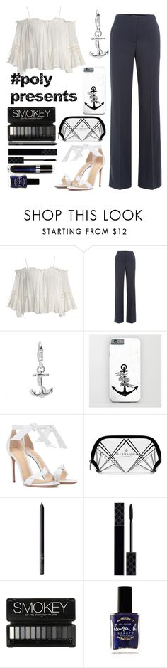 """#PolyPresents: faithful anchor"" by darkangel707 ❤ liked on Polyvore featuring Sans Souci, Theory, Alexandre Birman, Illamasqua, NARS Cosmetics, Gucci, Lauren B. Beauty, contestentry and polyPresents"
