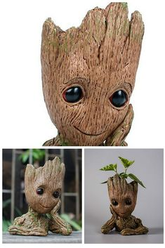 How cute is this! This Baby Groot is a perfect gift for the Guardians of the Galaxy lover in your life and will make a perfect pen holder a flower holder. #homegifts #funnygifts #marvel #groot #thisgiftissocool