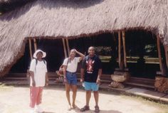 Gretchen Mudoga in 2008 with her mom and brother, Eric, at the Gedi Ruins, on the coast of Kenya.
