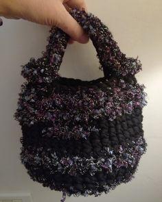 Lurex crochet bag