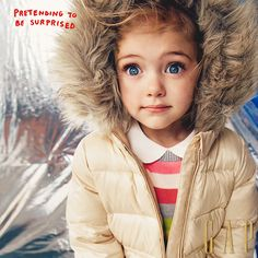 Gear her up with the warmest jackets ready for any winter adventure. Water repellent, down filled, detachable faux fur trim and full fleece lining. Shop jackets at gap.com to get her ready for a winter wonderland. Little Babies, Little Ones, Cute Babies, Baby Kids, Shop Jackets, Ohana, Mini Me, Fur Trim, Kids Wear