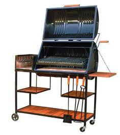 Barbecue Design, Grill Design, Barrel Furniture, Metal Furniture, Bbq Grill Diy, Oil Drum Bbq, Asado Grill, Parrilla Exterior, Barrel Grill