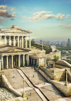 Remnants of the Parthenon still remain, but this is what it may have looked like in its prime.