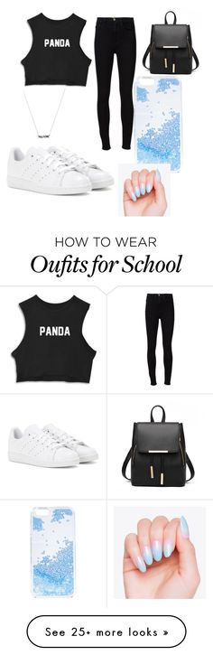 """Last Day Of School"" by jadamckenzie20 on Polyvore featuring Frame Denim, adidas and Skinnydip"