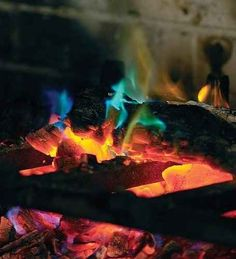 Get some rainbow fire crystals for your fire pit.
