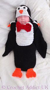 Ravelry: Penguin Cocoon & Earflap Hat pattern by Crochet AddictUK