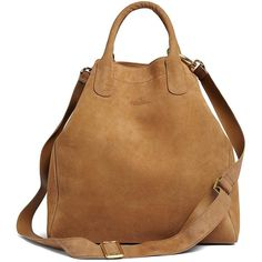 Brooks Brothers Calfskin Suede Shopper ($398) found on Polyvore