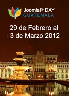 Joomla Day Guatemala will be held from Feb 29 to March 03 2012 in Guatemala City. This is a ideal opportunity for the Guatemalan Joomla community to come together & meet some of the Joomla enthusiastic and experts. Guatemala City, Opportunity, Taj Mahal, Hold On, March, Meet, Community, Day, Sweetie Belle