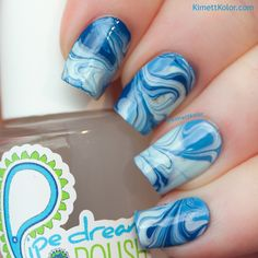 647 Best Nail Art Water Marble Images On Pinterest Marble Aqua