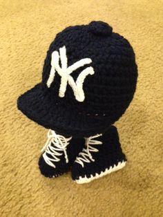 ebec922f50cd4 Items similar to New York Yankees Baseball Cap and Sneaker Set on Etsy