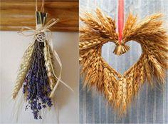 Décoration automne pour l'Action de grâce en épis de blé