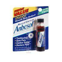 Anbesol Mouth Wash Liquid Regular Strength Cool Mint Cool Mint 0.41 oz