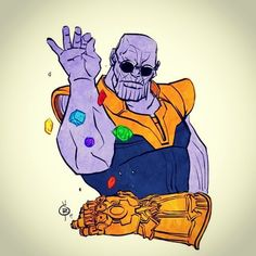 "Reposting @geekalliance: Coming soon to a theater near you #thanos #avengersinfinitywar ""Infinity stone bae"" hahah"