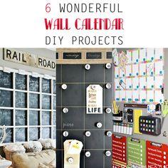 6 Wonderful Wall Calendar DIY Projects - The Cottage Market Calander Diy, Diy Calendar, Office Calendar, Wall Calendars, Diy Projects To Try, Home Projects, Diy Chalkboard, Planner Organization, Organization Ideas
