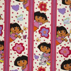 dora fabric with dots and stripes 100 cotton 1495 per meter wwwkidsfabricseu