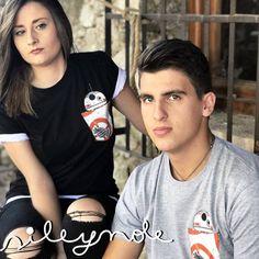 Camiseta unisex. Bolsillo BB8 t-shirts. Custom. Personalizada. Algodón. Camiseta original. Vinilo textil. Sile y nole. de Sileynole en Etsy