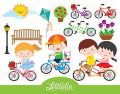 Dulce paseo primavera clipart de paseo por LittleLiaGraphic