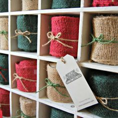 Nutscene® Burlap Jute Ribbon - available in 3 colours - Get Crafting!