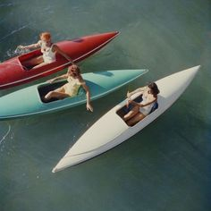 Young women canoeing at Zephyr Cove on the Nevada side of Lake Tahoe, USA, (Photo by Slim Aarons/Hulton Archive/Getty Images)Image provided by G. Palm Springs Houses, Zephyr Cove, Thing 1, Canoe Trip, Camping, High Society, Beach Scenes, Hollywood Celebrities, Best Photographers