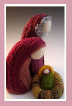 DEPOSIT on 3 piece Large Heirloom Needle Felted Nativity Set - Ready for 2013 SEASON. $50.00, via Etsy.