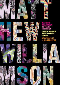 Matthew Williamson Exhibition Poster by simon.armstrong, via Flickr
