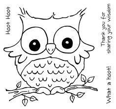 Cute Owl Coloring Pages Pictures