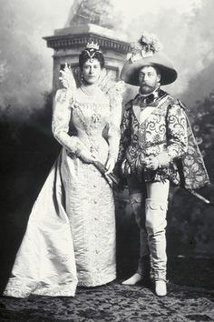 The Duke and Duchess of York (later King George V and Queen Mary) dress up.