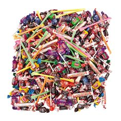 Bulk Candy Assortment - 9 lbs. - OrientalTrading.com 1000 pieces!!! Would be great for a parade float! :)