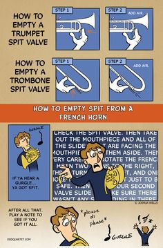 How to empty a french horn spit valve in 27 easy steps...