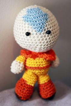 Avatar: The Last Airbender - Aang crochet doll! ~~~ handmade by deadcraft.com | custom orders at http://www.deadcraft.com/order
