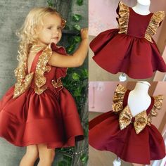 Baby Girl Party Dresses, Dresses Kids Girl, Kids Outfits, Baby Girl Red Dress, Cute Little Girl Dresses, Baby Party, Dress Party, African Dresses For Kids, Kids Dress Wear
