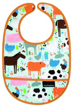 This delightful bib is made from high quality PVC, making it easy to clean as well as long-lasting.It features a bright and colourful design of farm...