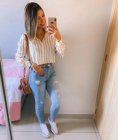 35 Unique Spring Outfits Ideas For Women Spring Outfits For School, Summer Outfits Women, Outfits For Teens, Spring School, School Outfits, Cute Casual Outfits, Chic Outfits, Fall Outfits, Fashion Outfits