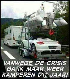 Vanwege de crisis