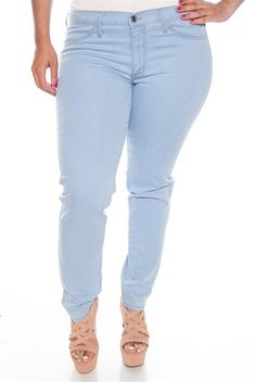 834d4d9ef25 Fade into Fashion Plus Size Jeans - L Blue from Kancan USA at Lucky 21 plus  size pants