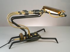 Machine Light Series of Frank Buchwald model no.11  steampunk industrial interior design decor lighting