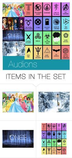 """""""Audions"""" by the-heart-of-a-fandom ❤ liked on Polyvore featuring art"""