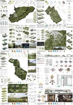 PLANCHAS | PRIMER LUGAR CONCURSO INTERNACIONAL UNIVERSITARIO… | Flickr Architecture Mapping, Architecture Panel, Architecture Portfolio, Concept Architecture, Architecture Presentation Board, Presentation Layout, Landscape And Urbanism, Landscape Architecture Design, Urban Design Plan