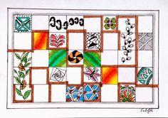 Lieschens-Bilder: Zentangle 243 Challenge #215