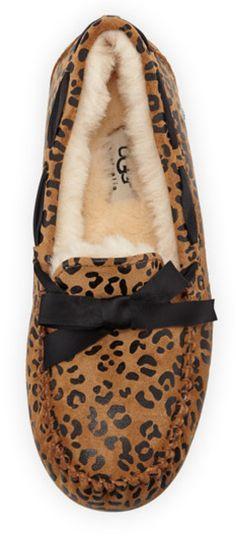 Leopard Bow-tie Slipper