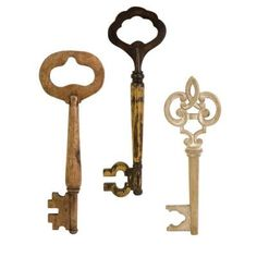 Home Decorators Collection Walter Wooden Wall Keys (Set of 3)