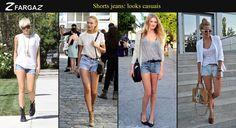 O verão pede por peças leves e confortáveis, certo? Que tal se inspirar nesses looks casuais com shorts jeans?
