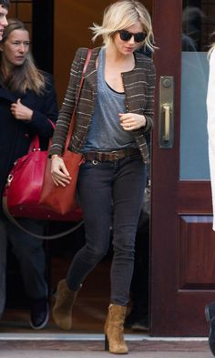 Look of the Day - Sienna Miller Shows Off Her Seventies Style from InStyle.com