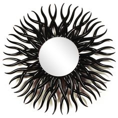 Charming Spikey Urchin Dark Wooden Mirror CAD) ❤ Liked On Polyvore Featuring Home,  Home Decor, Mirrors, Decor, Frames, Furniture, Picture Frame, Borders, ... Nice Look